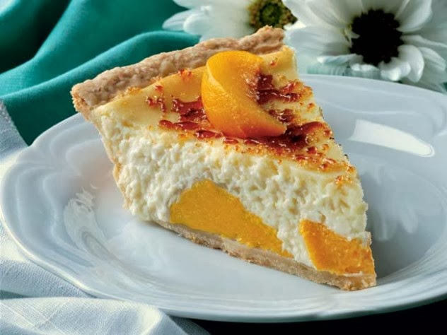 Peaches Cream Frozen Pie Recipe
