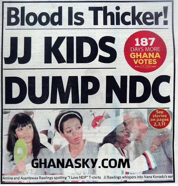 Blood Is Thicker, JJ Rawlings Kids Dump NDC