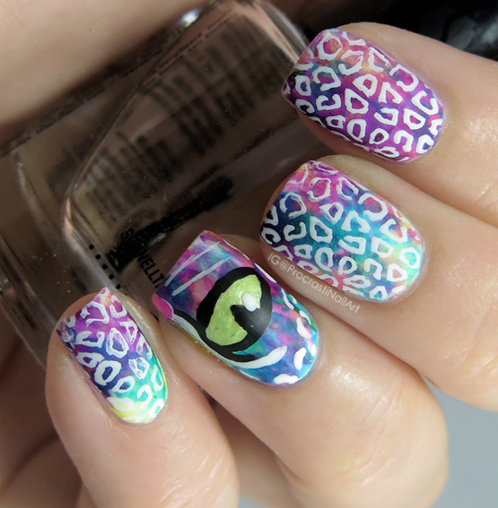 Rainbow Leopard Lisa Frank Nails