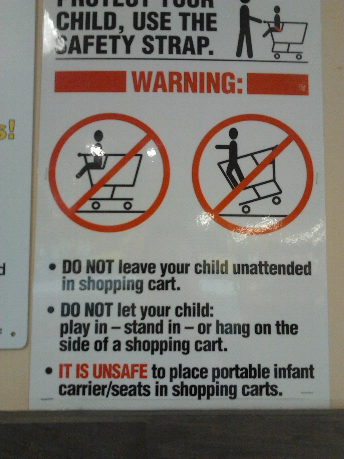 Safeway: Do not place car seat on shopping cart – Beyond Attachment ...