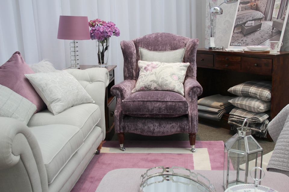 Laura Ashley AW Press Show - Laura ashley living room purple