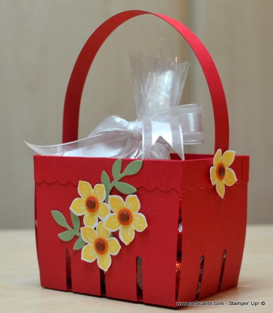 Atelier Meruru Handmade Basket : Janb handmade cards atelier narrow easter berry basket