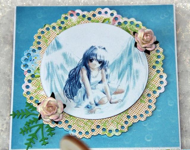 niebieski exploding box, prezent na komunię, manga, magiczna kartka inspriracje, I Komunia Święta,