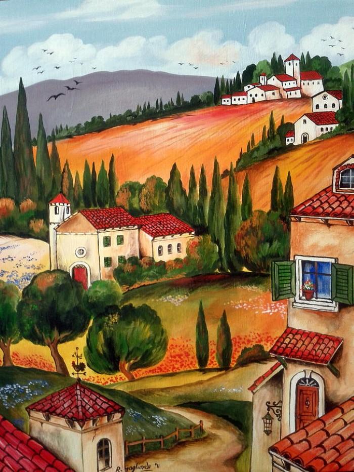 Итальянские деревни и пейзажи. Roberto Gagliardi 11
