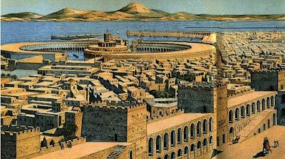 Vista de Cartago desde la colina de Byrsa