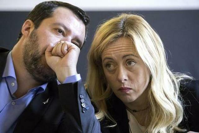 Salvini e Meloni sovranisti