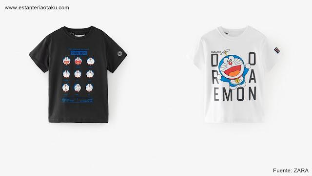 Camisetas de Doraemon. Fuente: ZARA