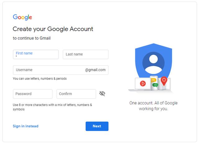 Create an email id
