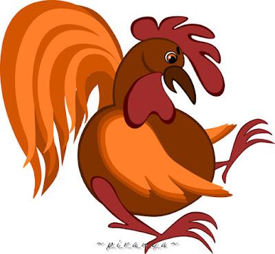 """картинка иллюстрация арт """"Удивленный петух, курочка, куриное семейство"""" p_i_r_a_n_y_a"""