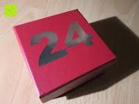 Zahl: Adventskalender als piratige rustikale Schatztruhe - 24 einzelnen Schatzboxen - Ideal für den Advent