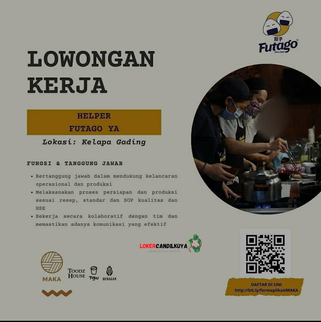 Lowongan Kerja Helper Futago Ya Jakarta