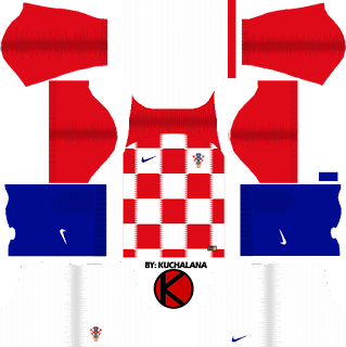 Croatia 2018 World Cup Kit -  Dream League Soccer Kits