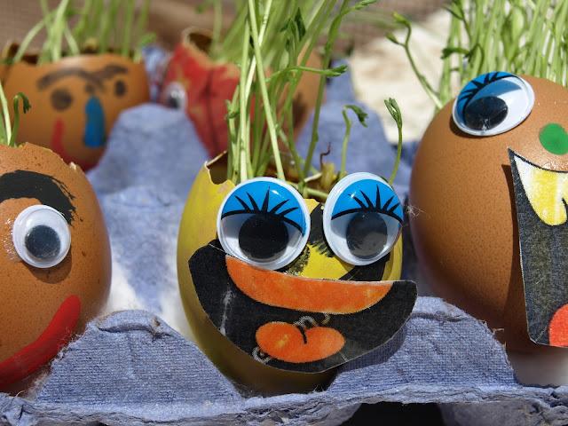 Χειροτεχνία-με-τσόφλια-από-αυγά-και-φακές!