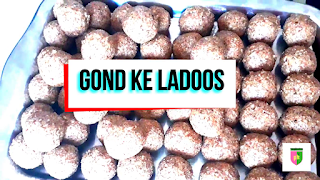 how to make Gond ke ladoo