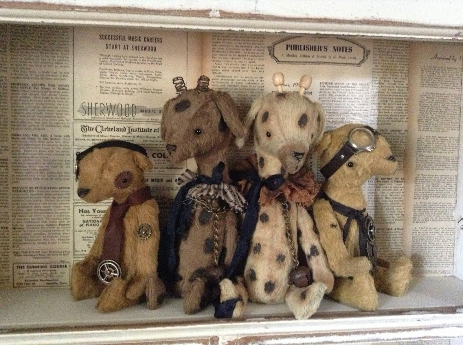 Steam punk bears and giraffes