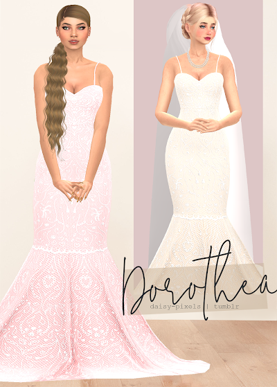 - ̗̀ Dorothea Dress ̖́- (TS4)