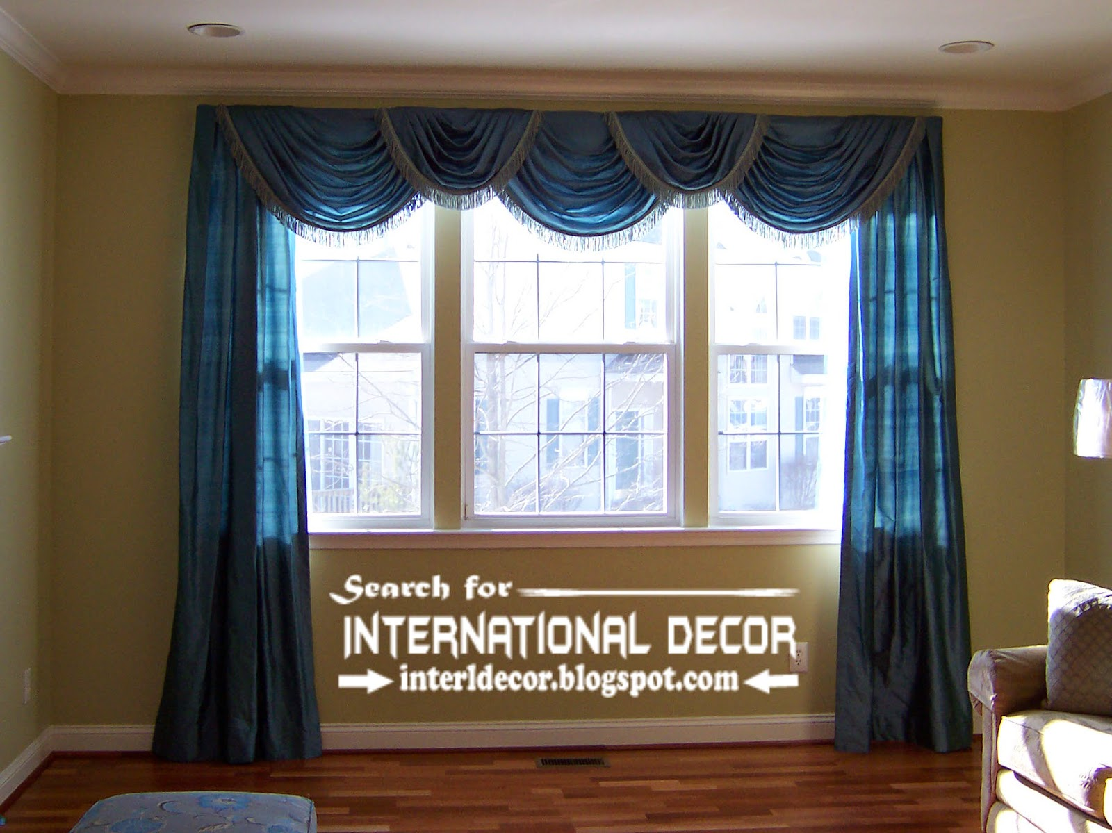 Luxury living room drapery styles, designs and ideas