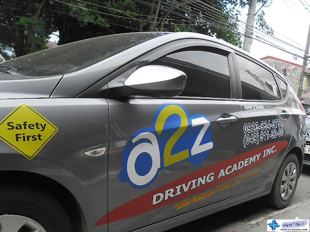 Vehicle Stickers - A2Z Driving Academy Inc.