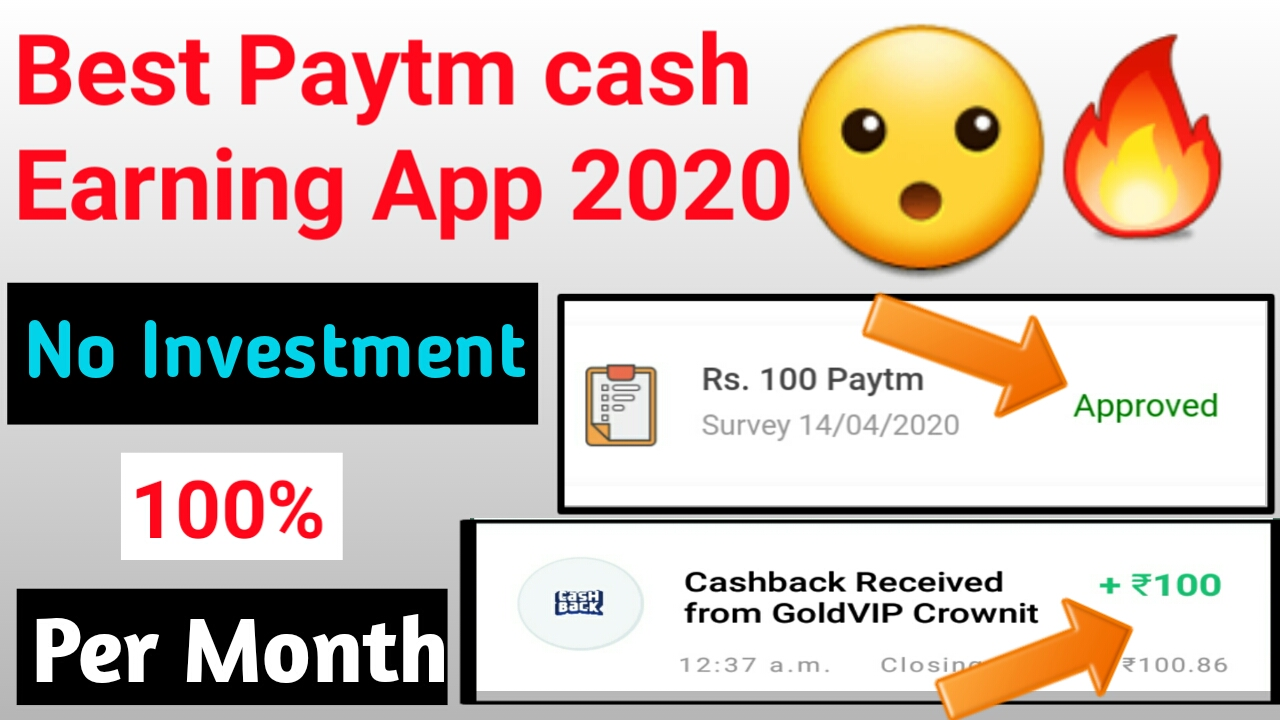 Best Paytm Cash Earning Apps 2020
