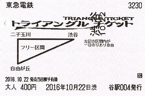 東京急行電鉄 トライアングルチケット
