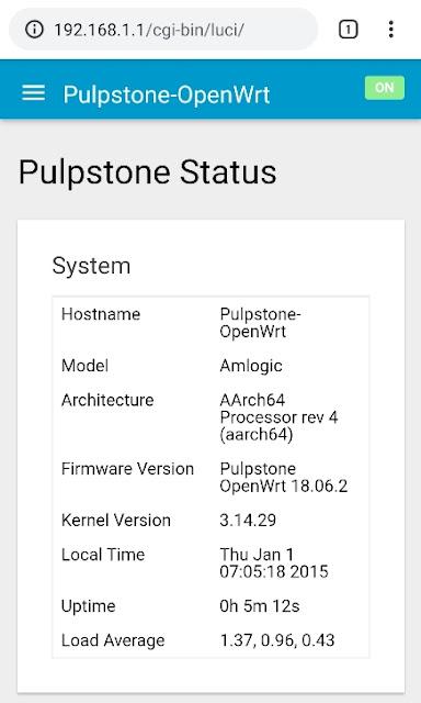 Pulpstone OpenWrt di STB HG680p