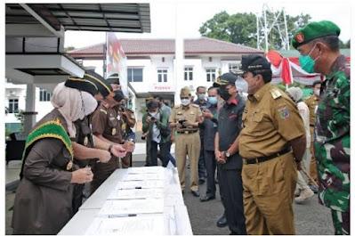 Gubernur Arinal Hadiri Apel Deklarasi Pencanangan Zona Integerasi Berpredikat WBK Menuju WBBM di Kejati Lampung