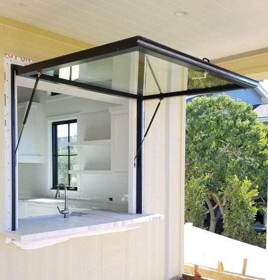 Jendela jungkit awning upvc hidrolik