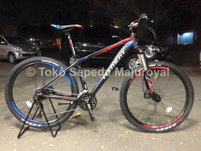 "Sepeda mtb 27,5"" Aluminium Element XC900 blackred"