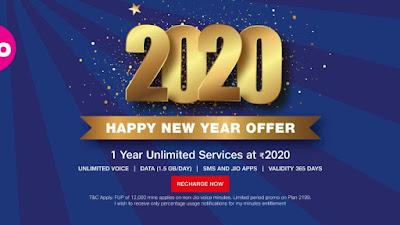 Reliance Jio 2020 happy New Year Plan.