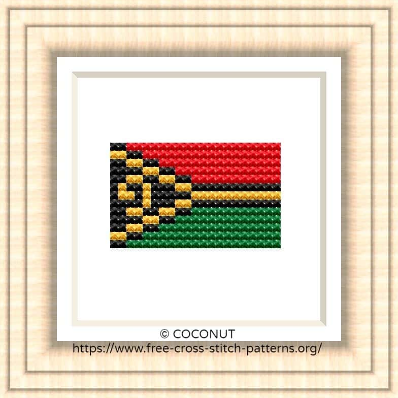 NATIONAL FLAG OF VANUATU CROSS STITCH CHART