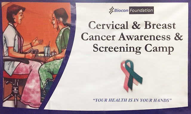 Cancer screening camp by Biocon Foundation