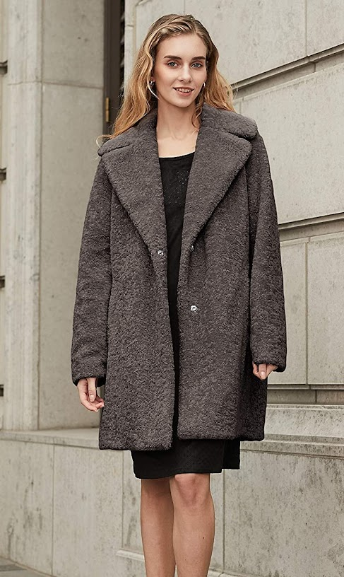 Good Quality Grey Faux Fur Coats For Women