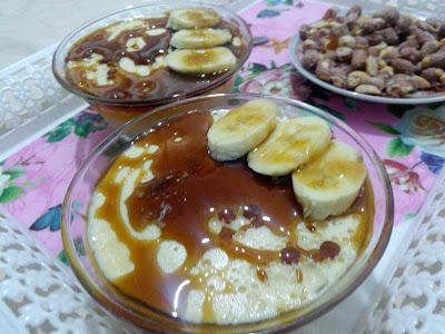تحلية بالتمر و الموز و الفلان باردة و ذوقها منعش