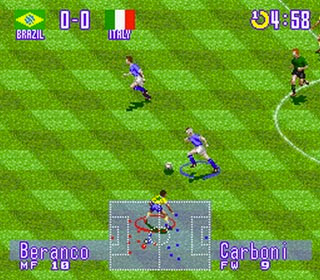 Fabrizio Ravanelli, anzi, Carboni, in ''International Superstar Soccer Deluxe''
