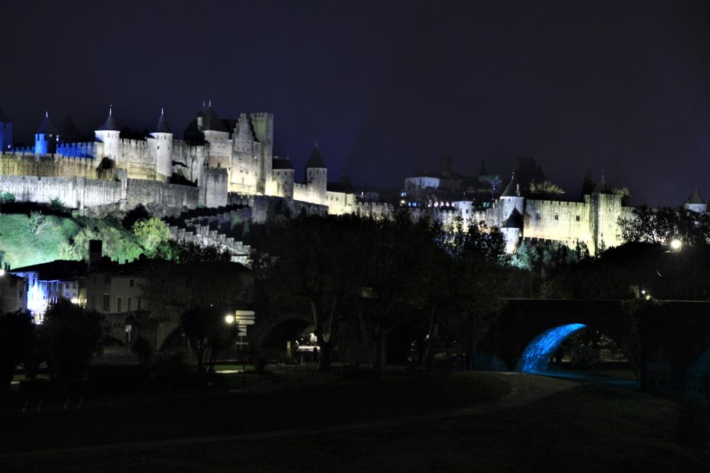 Zamek w Carcassonne.