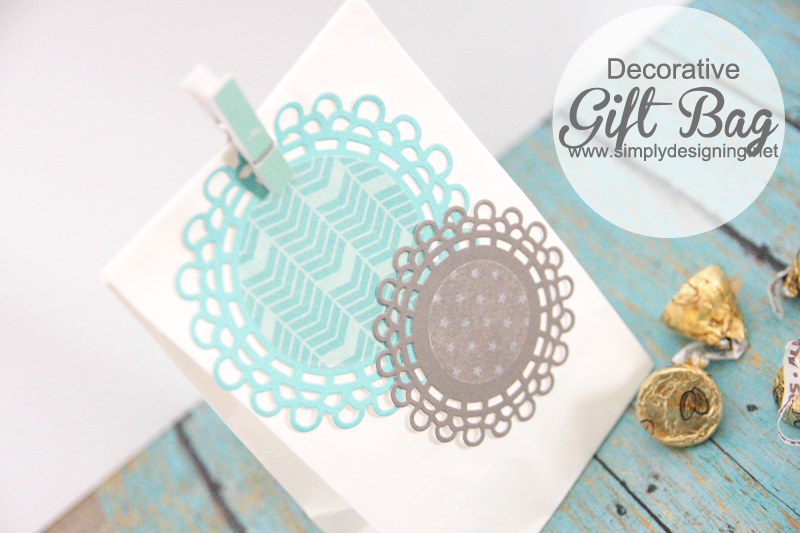 DIY Decorative Gift Bag with Washi Tape | #washitape #silhouette #gift #crafts