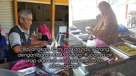 Mulianya Hati Pemilik Warung Makan Berdekatan Tol Pedas Linggi Ini