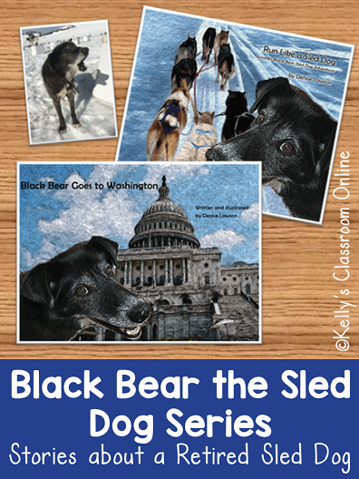 Black Bear Goes to Washington and Run Like a Sled Dog by Denise Lawson are two children's books inspired by the author's dog... a retired sled dog.
