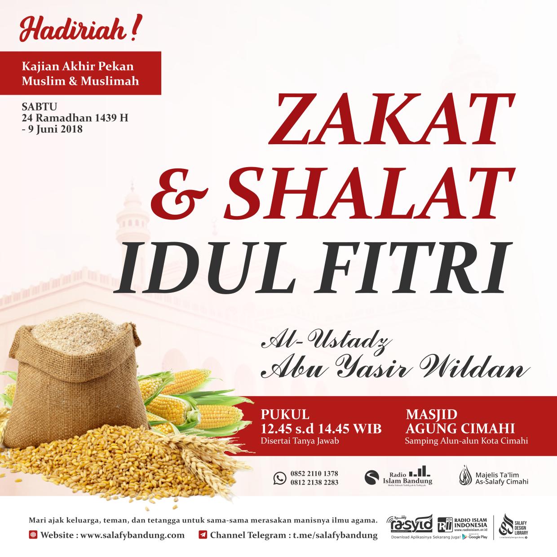 Kajian Masjid Agung Cimahi: Pembahasan Zakat dan Shalat Idul Fitri