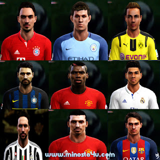 PES 2013 OPTION FILE FOR SEASON 2017 (UPDATE 20/08/2016) BY MINOSTA
