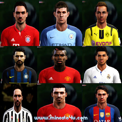 PES 2013 OPTION FILE FOR SEASON 2017 BY MINOSTA