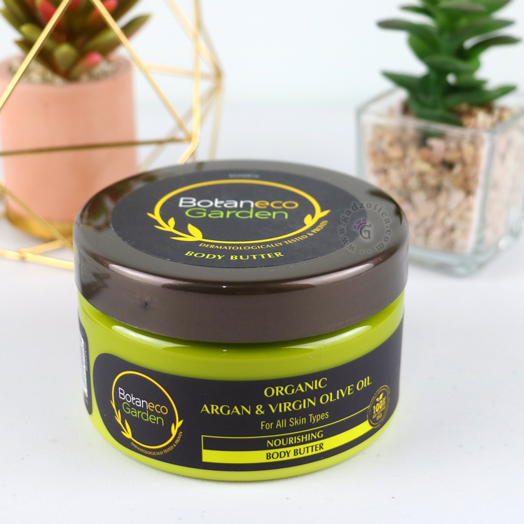 BOTANECO GARDEN ORGANIC ARGAN & VIRGIN OLIVE OIL BODY BUTTER