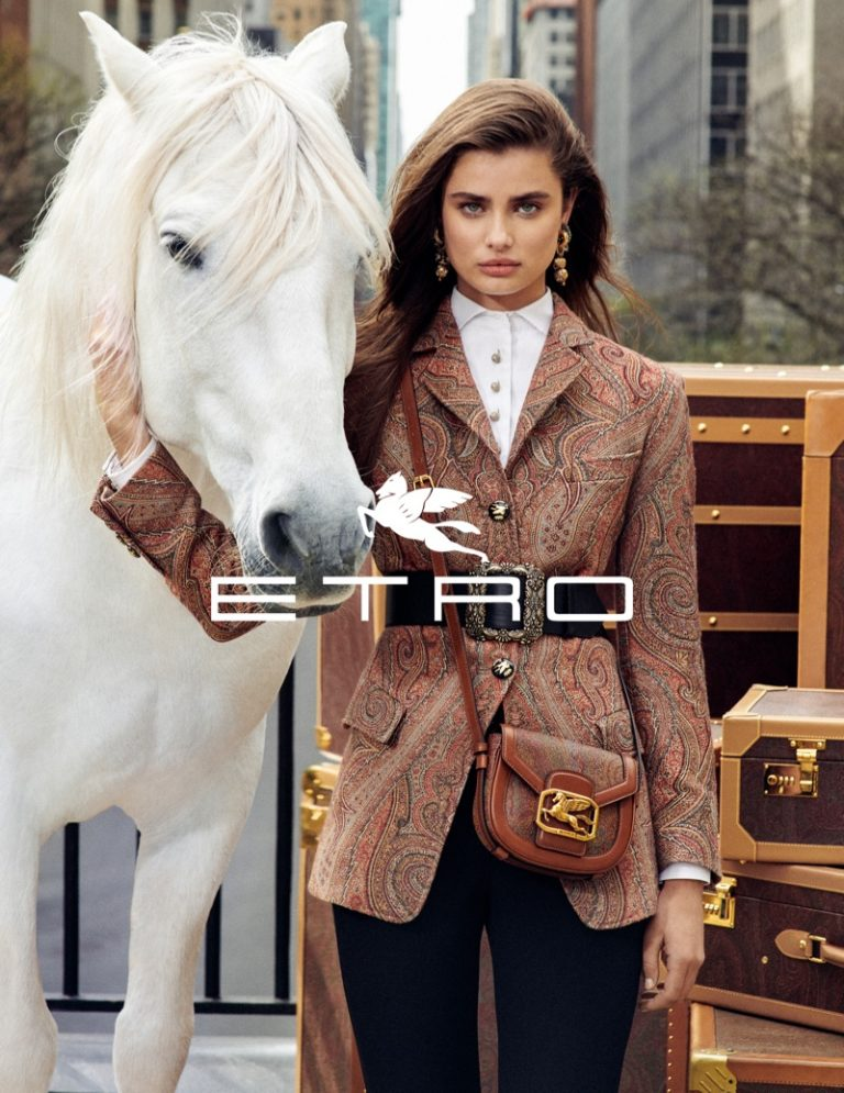 Taylor Hill fronts Etro fall-winter 2019 campaign