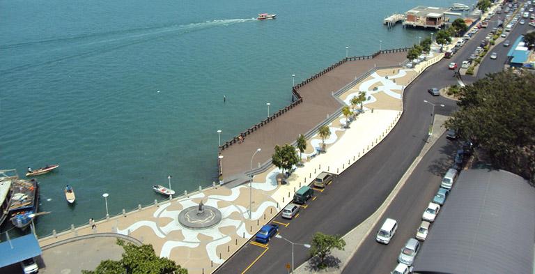 Asia Kinabalu City KK Waterfront Tourist Attraction