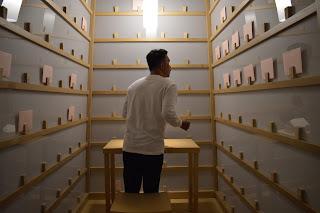 Salah satu spot The Writing Project karya Lee Mingwei