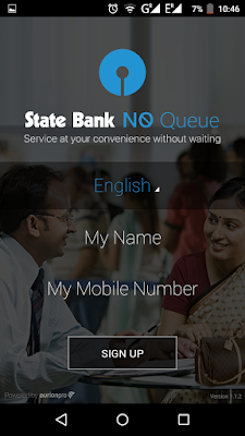 SBI NoQueue - Select Name and Mobile Number
