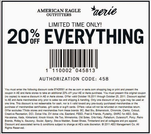 american eagle coupon code 2019 october