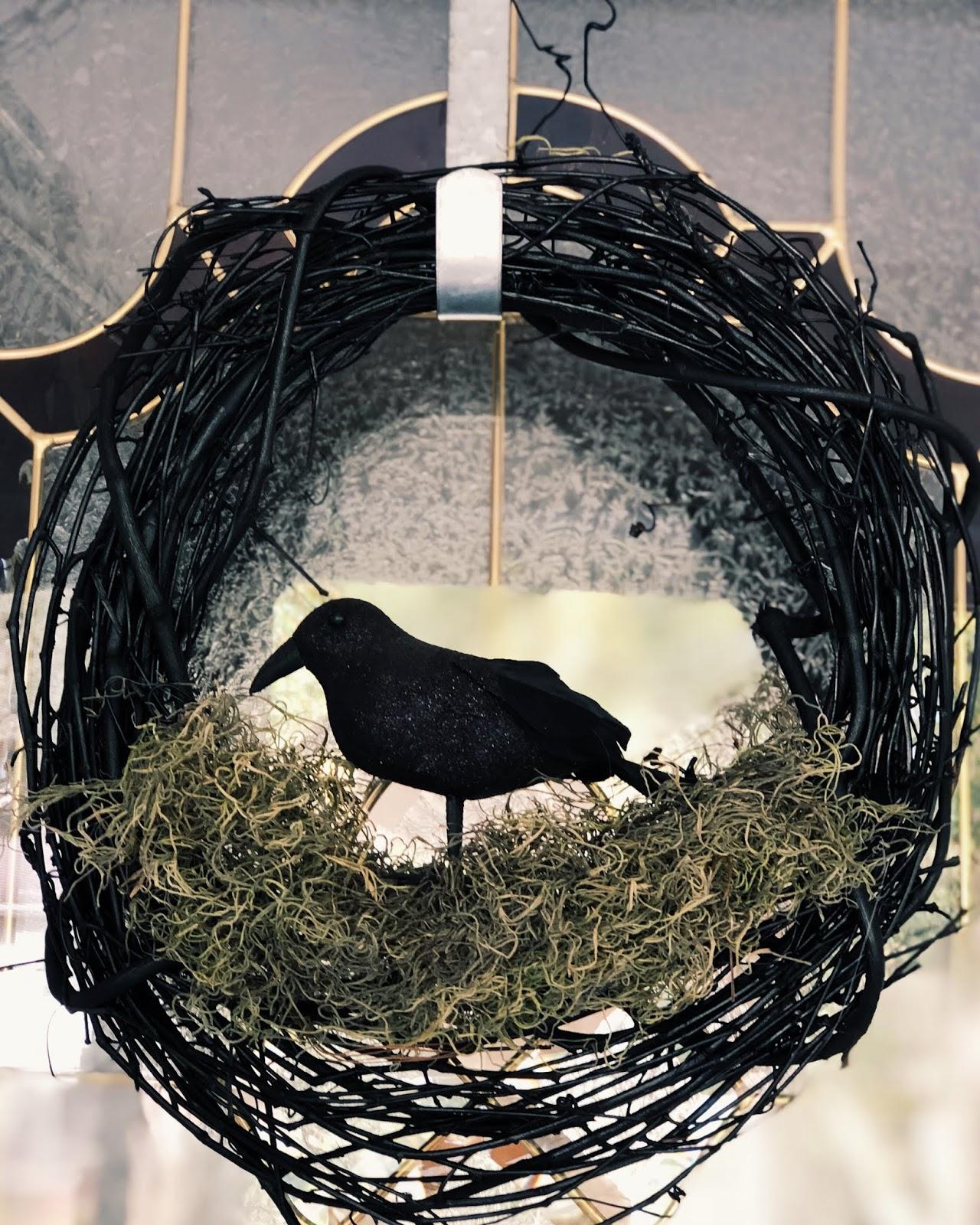 DIY Raven Wreath