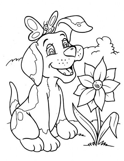 Dogs coloring pages 13