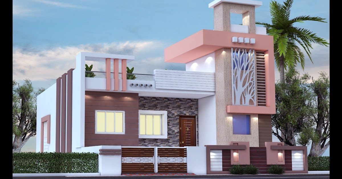 20 x 30 east face house plan with 3d front elevation ...